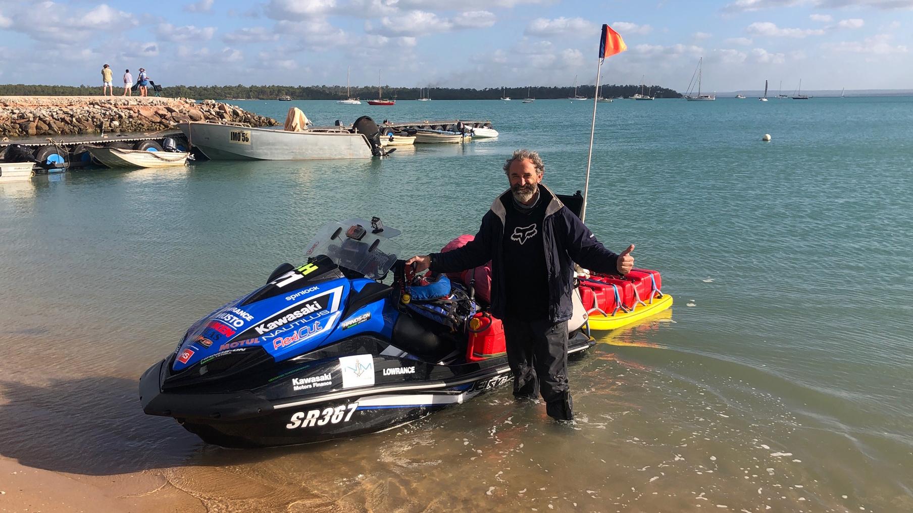 Jet Ski around Australia arrives in Darwin, finish line just weeks away